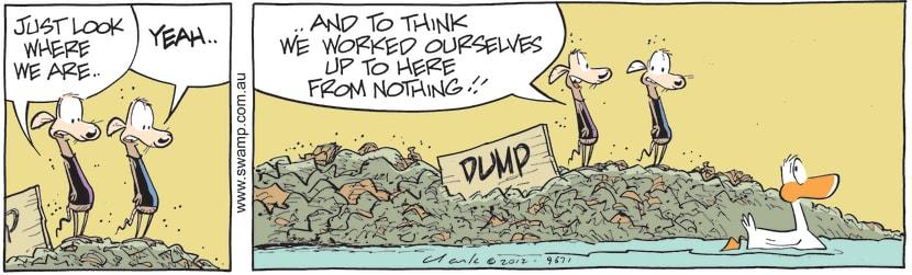 Swamp Cartoon - Hard Work Pays Off ComicAugust 30, 2012