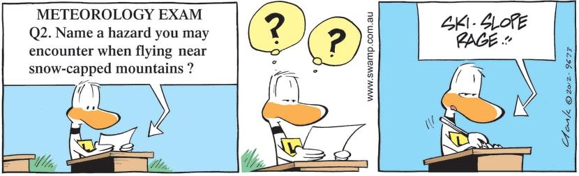 Swamp Cartoon - Alpine Flying Hazard ComicSeptember 1, 2012