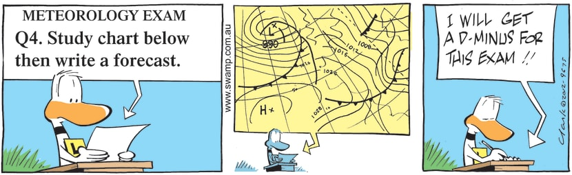 Swamp Cartoon - Weather Forecast ComicSeptember 4, 2012
