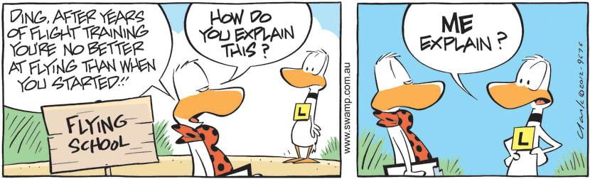 Swamp Cartoon - Flight Training ComicSeptember 5, 2012