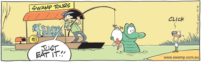 Swamp Cartoon - Click! ComicSeptember 7, 2012