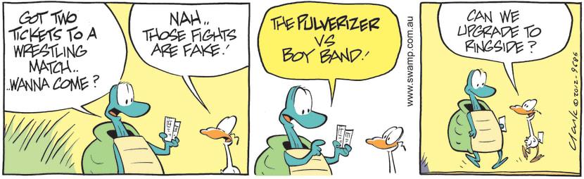 Swamp Cartoon - Two Tickets ComicSeptember 17, 2012