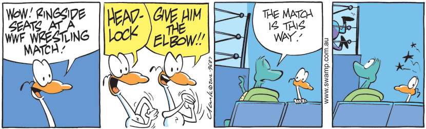 Swamp Cartoon - Ring Side Seats ComicSeptember 18, 2012