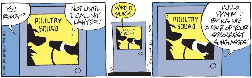 Swamp Cartoon - Call my Lawyer ComicSeptember 24, 2012
