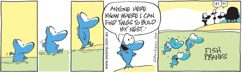 Swamp Cartoon - Nest Building ComicOctober 5, 2012