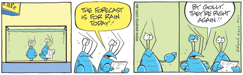 Swamp Cartoon - Weather Forecast ComicOctober 11, 2012