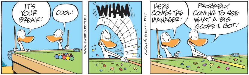 Swamp Cartoon - Your Break ComicNovember 1, 2012