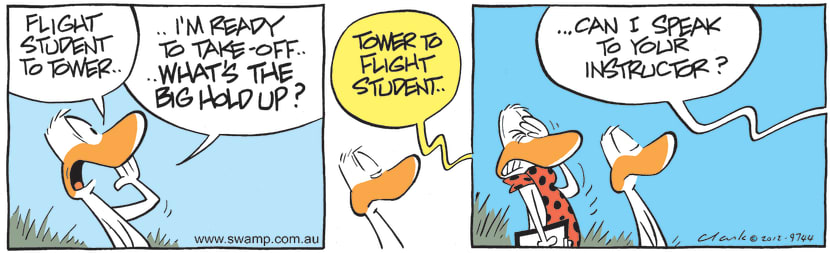 Swamp Cartoon - Flight Student to TowerNovember 23, 2012