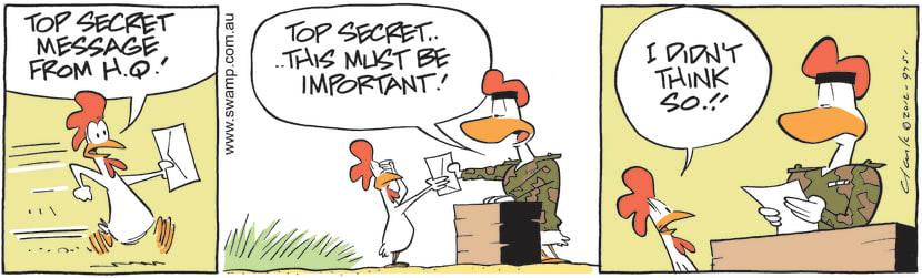 Swamp Cartoon - Top Secret Message ComicDecember 3, 2012