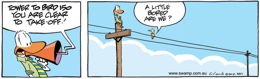 Swamp Cartoon - Control Tower to Bird 150March 23, 2013