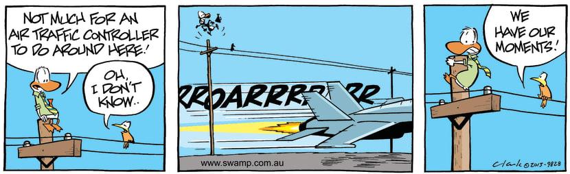 Swamp Cartoon - Quiet Day for Air Traffic Control CartoonMarch 25, 2013