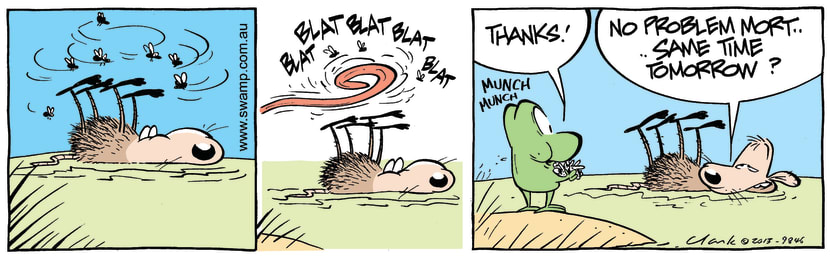 Swamp Cartoon - Lunch is Served ComicApril 15, 2013