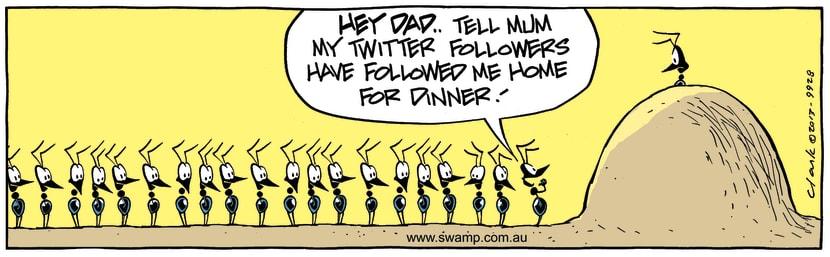 Swamp Cartoon - Twitter ComicJuly 19, 2013