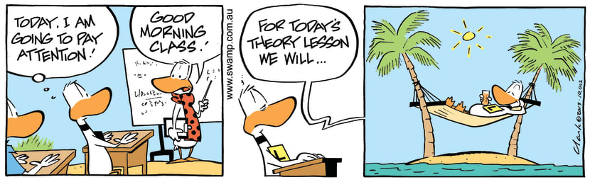 Swamp Cartoon - Good Morning Class ComicOctober 14, 2013