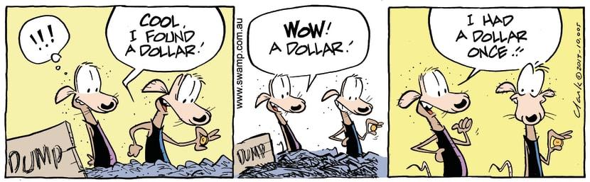 Swamp Cartoon - I'm Rich ComicOctober 17, 2013