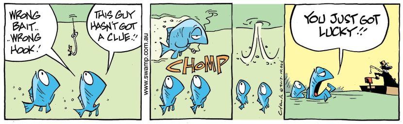 Swamp Cartoon - Wrong Bait ComicOctober 18, 2013