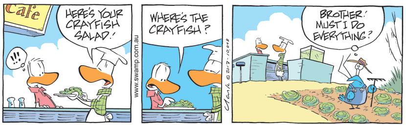 Swamp Cartoon - Crayfish Salad ComicOctober 21, 2013