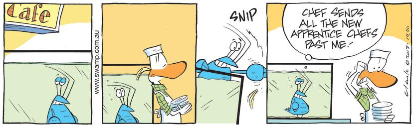 Swamp Cartoon - New to the Job ComicOctober 24, 2013