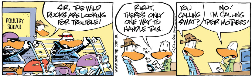 Swamp Cartoon - Looking for Trouble ComicOctober 25, 2013