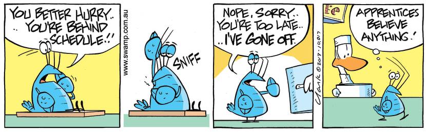 Swamp Cartoon - Hurry Up ComicOctober 31, 2013