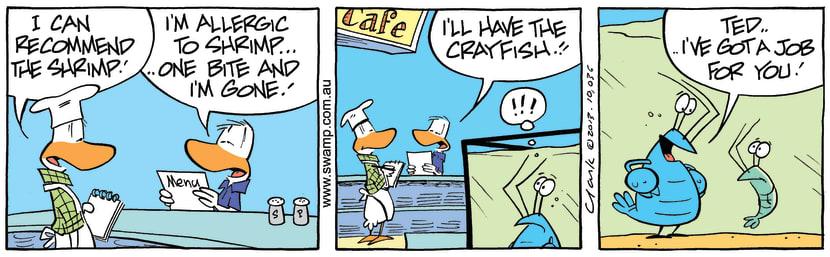Swamp Cartoon - Bob the Crayfish Trick ComicNovember 22, 2013