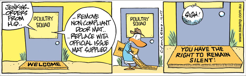 Swamp Cartoon - Orders from HQ ComicDecember 17, 2013