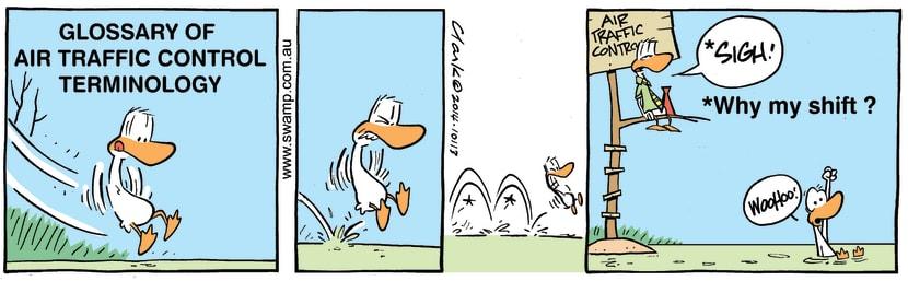 Swamp Cartoon - Air Traffic Control Terminology ComicFebruary 22, 2014