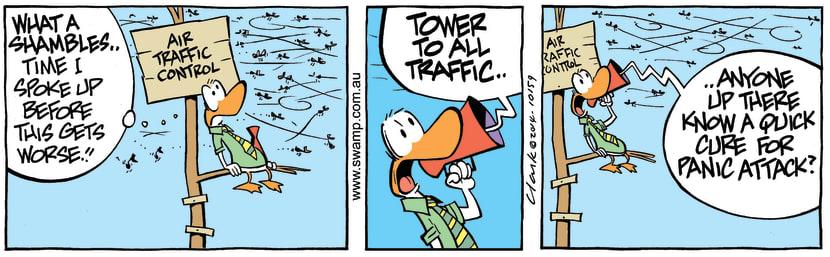 Swamp Cartoon - Air Traffic Control Panic Attack ComicApril 17, 2014
