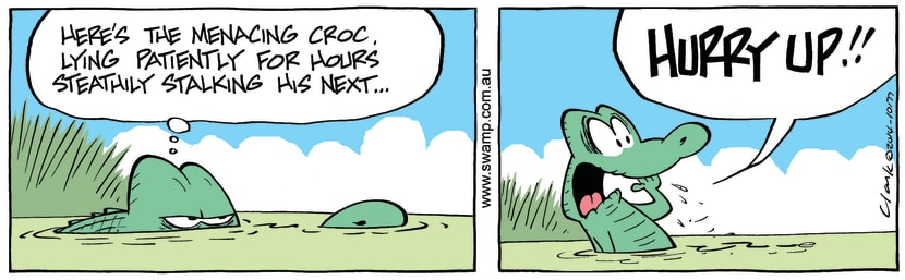 Swamp Cartoon - Old Man Croc StalkingMay 8, 2014