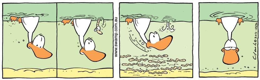 Swamp Cartoon - Swamp Duck Worms ComicAugust 9, 2014