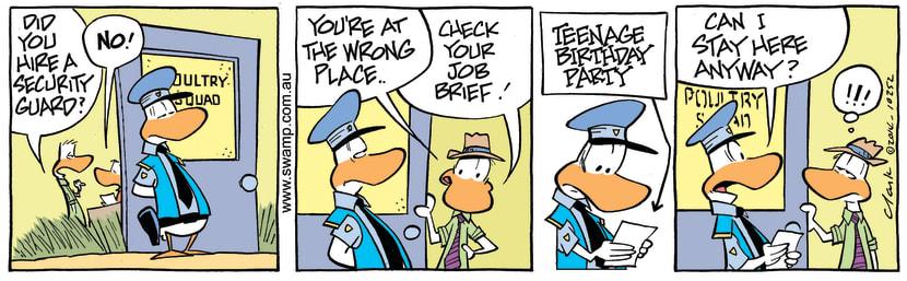 Swamp Cartoon - Swamp Security GuardSeptember 6, 2014