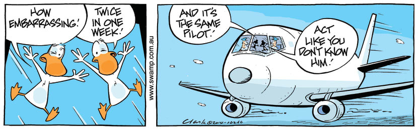Swamp Cartoon - Birdstrike Again ComicSeptember 15, 2014