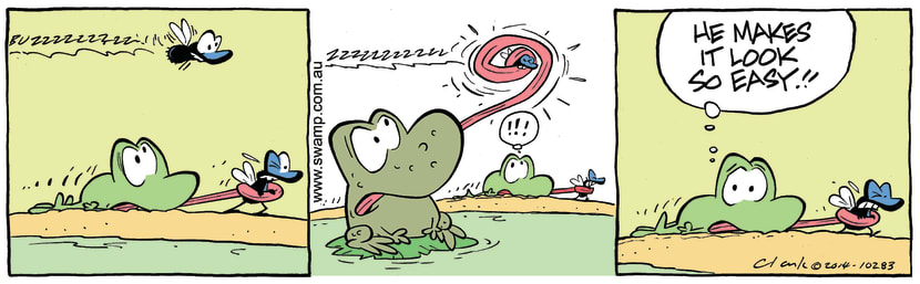Swamp Cartoon - Mort Frog FlyDecember 3, 2014