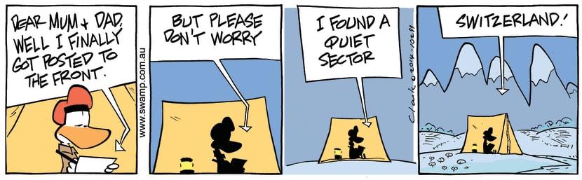 Swamp Cartoon - Army Duck PostingDecember 26, 2014