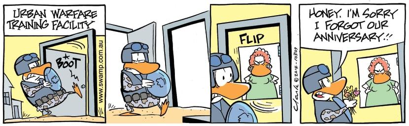 Swamp Cartoon - Duck Defensive TrainingJanuary 13, 2015