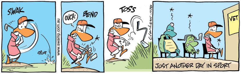 Swamp Cartoon - Swamp Duck Golf ComicApril 15, 2015