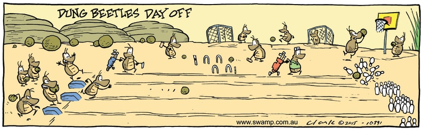 Swamp Cartoon - Dung Beetles Day OffApril 18, 2015