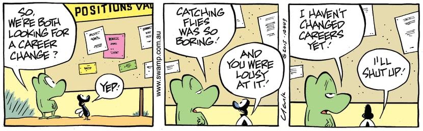 Swamp Cartoon - Mort Frog Career Change ComicJune 26, 2015