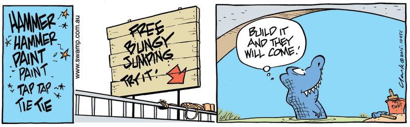 Swamp Cartoon - Chompers Crocodile Bungy ComicJuly 4, 2015
