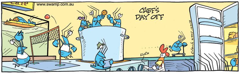 Swamp Cartoon - Crayfish on Chef's Day OffJuly 7, 2015