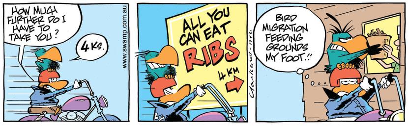 Swamp Cartoon - Bludgerigar Feeding Grounds ComicJuly 10, 2015