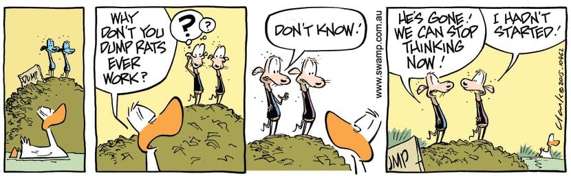 Swamp Cartoon - Swamp Rats Thinking ComicJuly 11, 2015