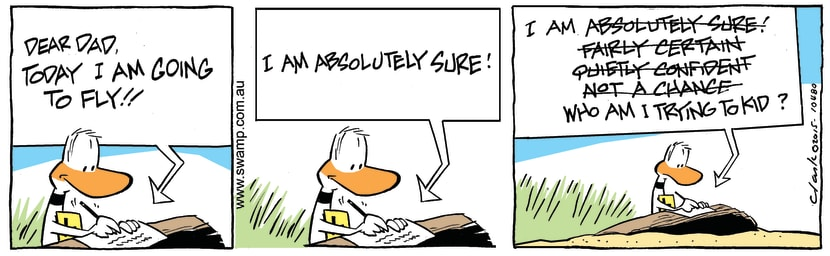 Swamp Cartoon - Ding Duck Going to Fly ComicAugust 1, 2015