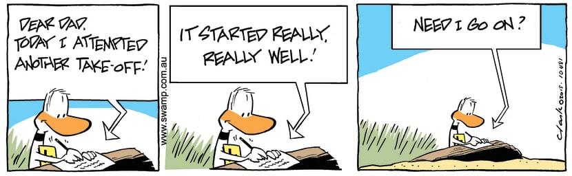Swamp Cartoon - Ding Duck Dear Dad ComicAugust 3, 2015