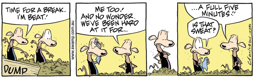 Swamp Cartoon - Swamp Rats Sweat ComicAugust 4, 2015