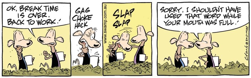 Swamp Cartoon - Chives Rat Chokes ComicAugust 5, 2015