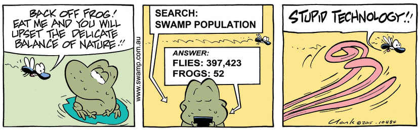 Swamp Cartoon - Wart Frog Google ComicAugust 6, 2015