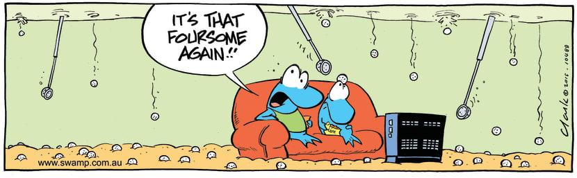 Swamp Cartoon - Annoying Golfers ComicAugust 11, 2015