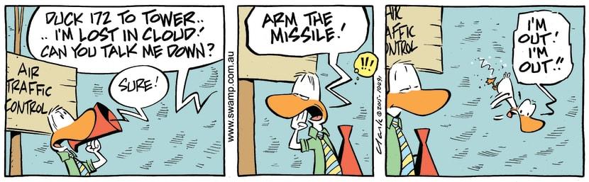 Swamp Cartoon - Air Traffic Controller Missile ComicAugust 14, 2015