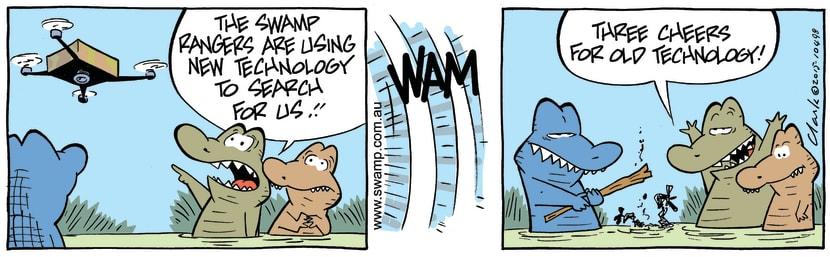Swamp Cartoon - Rogue Crocodiles Drone ComicAugust 22, 2015